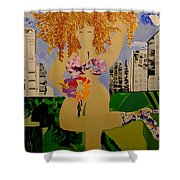 Girl In The City Shower Curtain