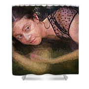 Girl In The Pool 13 Shower Curtain