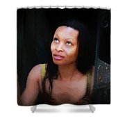 Girl In The Pool 17 Shower Curtain