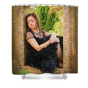 Girl In The Pool 21 Shower Curtain