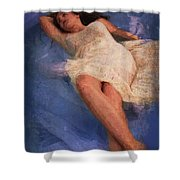 Girl In The Pool 6 Shower Curtain