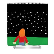 Girl In The Starry Night Shower Curtain