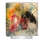 Girl In Time Shower Curtain