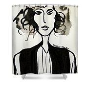 Girl In Vest Shower Curtain