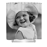 Girl In Wide Brimmed Hat, C.1930s Shower Curtain