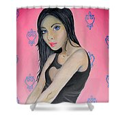 Girl Mysterious Shower Curtain
