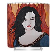 Girl Of Fire Shower Curtain