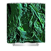 Girl Of Green Shower Curtain
