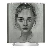Girl On Canvas Shower Curtain