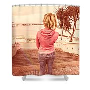 Girl On Redcliffe Travel Holiday Shower Curtain