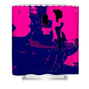 Girl Passing Coconut Vendor Reading Shower Curtain