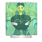 Girl Planted Shower Curtain