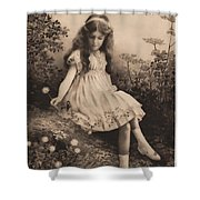 Girl Portrait Shower Curtain