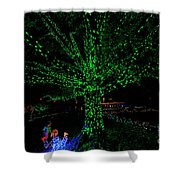 Girl Reaches For Apple 0861t Shower Curtain