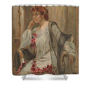 Girl - Sensuousness - Beauty - Vintage - Wall Art - Art Print - Serenity - Flowers Shower Curtain