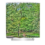 Girl Uninterrupted In Central Park Shower Curtain
