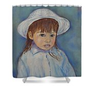 Girl With A Hat Shower Curtain