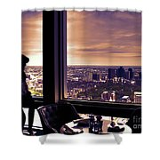 Girl With A View Shower Curtain