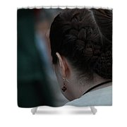 Girl With Braided Hair Shower Curtain