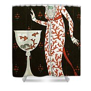 Girl With Fish Bowl Shower Curtain