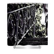 Girl With Oil Lamp Shower Curtain