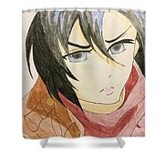 Girl With Scarf Shower Curtain
