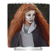 Girl With The Red Hair Shower Curtain
