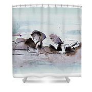 Girls At The Beach Shower Curtain