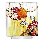 Girl's Basketball Shower Curtain