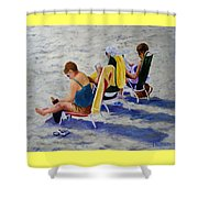 Girls Day At  The Beach Shower Curtain