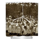 Girls  Doing The Maypole Dance Pacific Grove Circa 1890 Shower Curtain