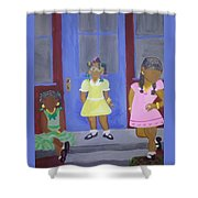Girl's Dreaming Of Being Women Shower Curtain