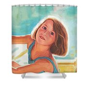Girl's Portrait Shower Curtain