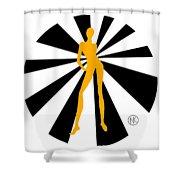 Girls. Yellow. I Shower Curtain