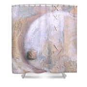 Give And Receive Shower Curtain by Kerryn Madsen-Pietsch