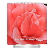 Give God The Glory Shower Curtain