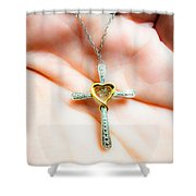 Give Her Of The Fruit Of Her Hand And Let Her Own Works Praise Her In The Gates. Shower Curtain