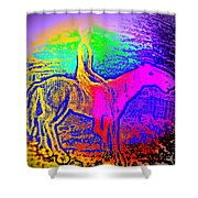 Life Is So Colorful When You Give Me A Ride  Shower Curtain