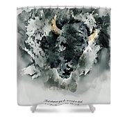 Give Thanks Colorado Watercolor Shower Curtain