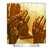 Give Them A Hand Shower Curtain