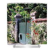 Giverny Gate Shower Curtain