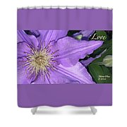 Giving Love Shower Curtain