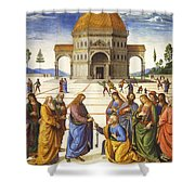 Giving Of The Keys To Saint Peter Shower Curtain