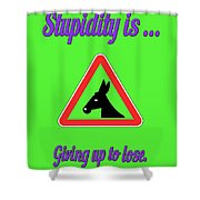 Giving Up Bigstock Donkey 171252860 Shower Curtain