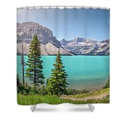 Glacial Colors Shower Curtain