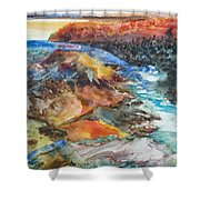 Glacial Meltdown Shower Curtain