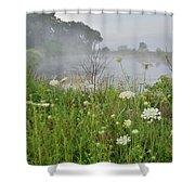 Glacial Park Pond Reflection Shower Curtain