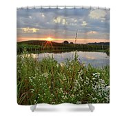 Glacial Park Sunrise On The Nippersink Shower Curtain