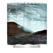 Glacial Rapids Shower Curtain
