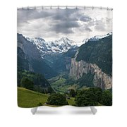Glacial Valley Shower Curtain